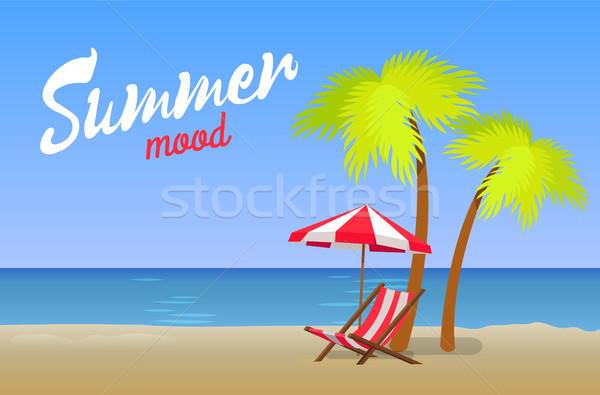 Lata nastrój piękna plaża piaszczysta summertime wieczór Zdjęcia stock © robuart