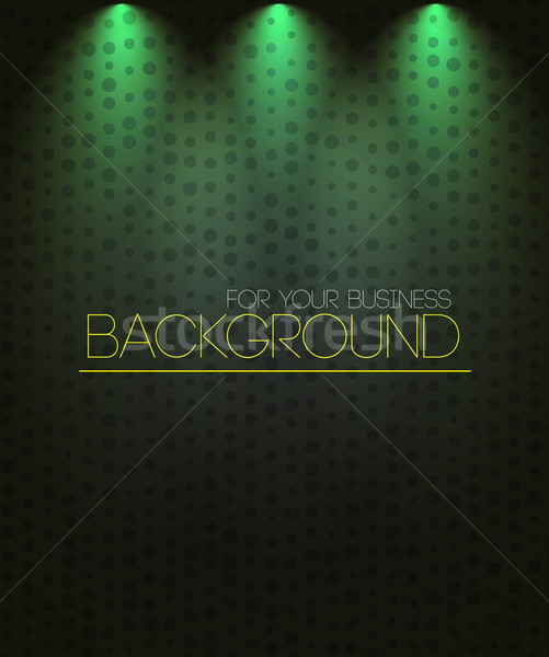Riflettori verde business musica design notte Foto d'archivio © robuart