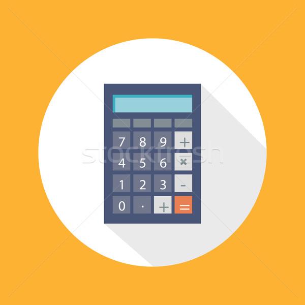 Calculator Flat Concept Icon Vector Illustration Stock photo © robuart