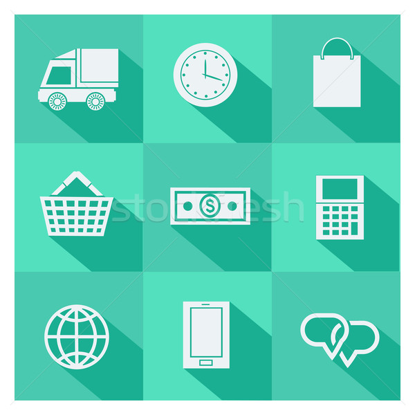Stock photo: Set of online shopping and ecommerce icons