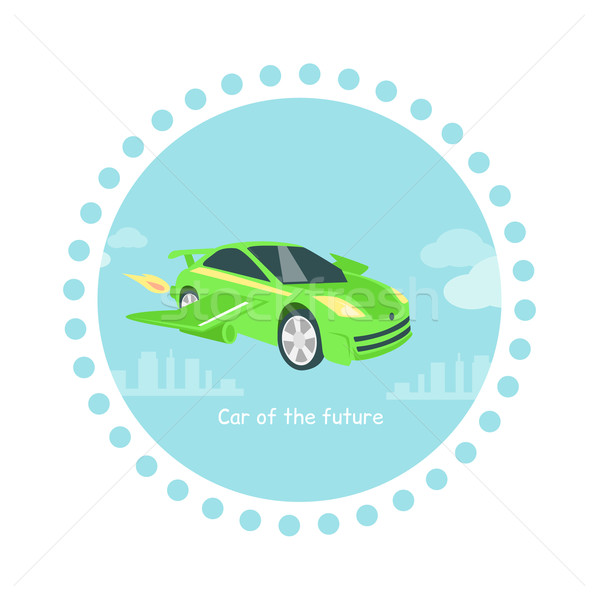 Stockfoto: Auto · toekomst · icon · geïsoleerd · voertuig · technologie