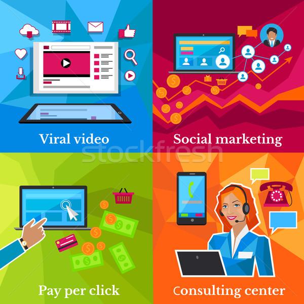 Social Marketing, Consulting Center Concept Stock photo © robuart