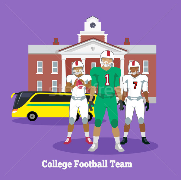 College Football Team Concept Flat Design Stock photo © robuart