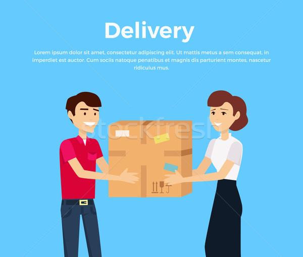 Profession courrier boîte livraison icône Photo stock © robuart