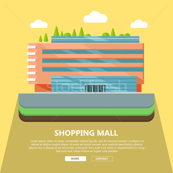 Shopping Mall Web Template in Flat Design Stock photo © robuart