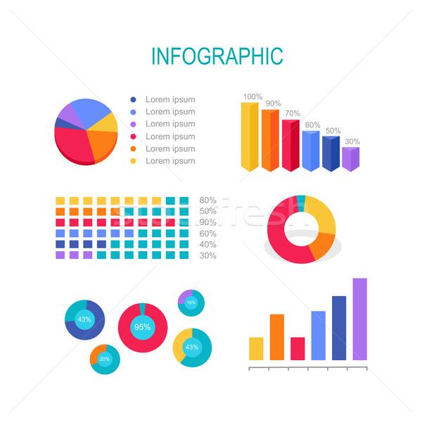 Negocios educación infografía bar columna Foto stock © robuart