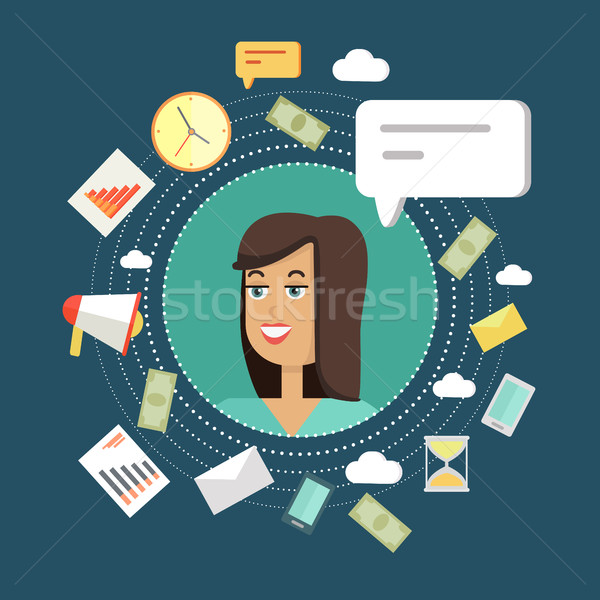 Creative Office Background Stock photo © robuart