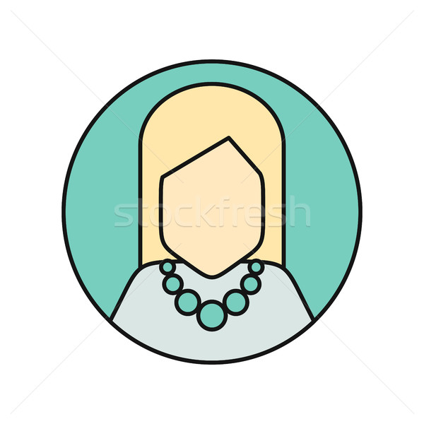 Young Woman Private Avatar Icon Stock photo © robuart