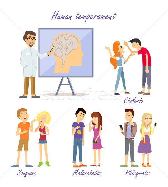 Human Temperament Personality Types. Scientist Stock photo © robuart