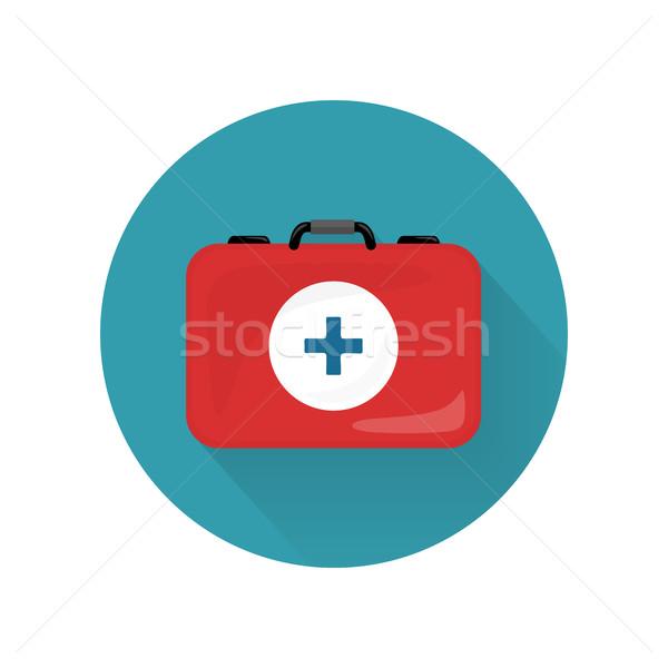 Medical Kit Icon Isolated. Realistic Emergency Bag Stock photo © robuart