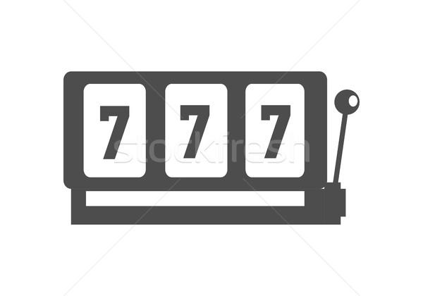Klasyczny hazardu wektora monochromatyczny czarny Zdjęcia stock © robuart