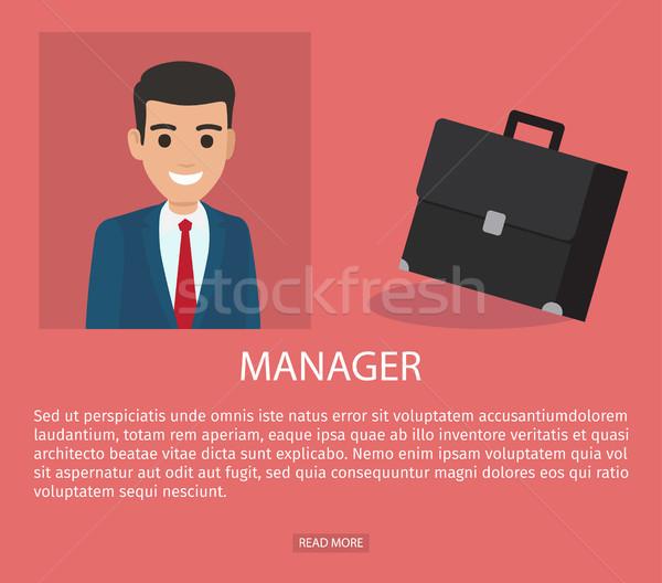 Job Application Form of Businessman. Brief Resume Stock photo © robuart