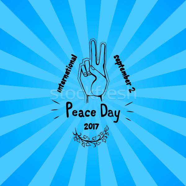 Uluslararası barış gün poster vektör el Stok fotoğraf © robuart