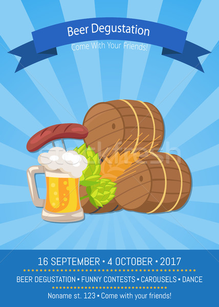 Beer Degustation 2017 on Vector Illustration. Stock photo © robuart