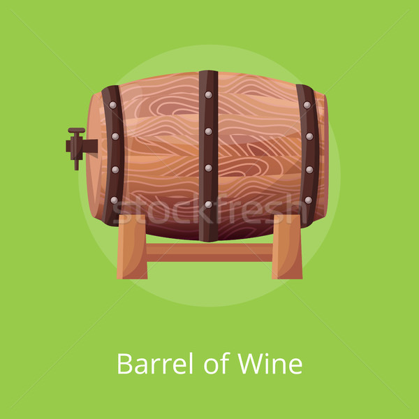 Photo stock: Baril · vin · vert · une