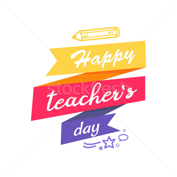 Happy Teacher s Day Icon Vector illustration Stock photo © robuart