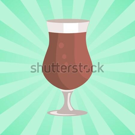 Cerveza transparente cristalería vector vidrio resumen Foto stock © robuart