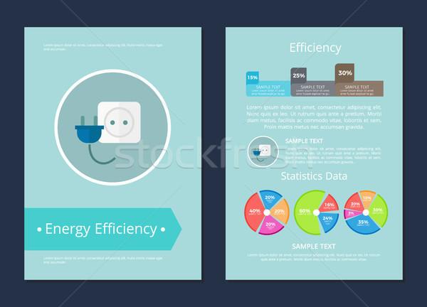 Efficienza energetica statistiche dati testo campione carta Foto d'archivio © robuart