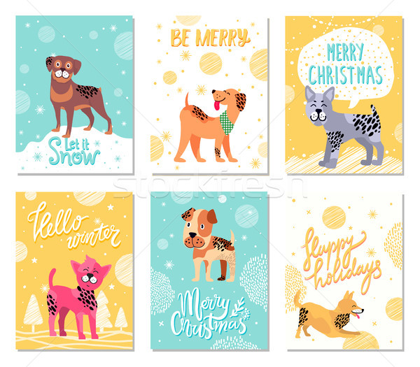 Let It Snow and Be Merry on Vector Illustration Stock photo © robuart