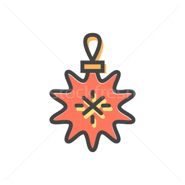 Star Christmas Toy with Lace Vector Illustration Stock photo © robuart