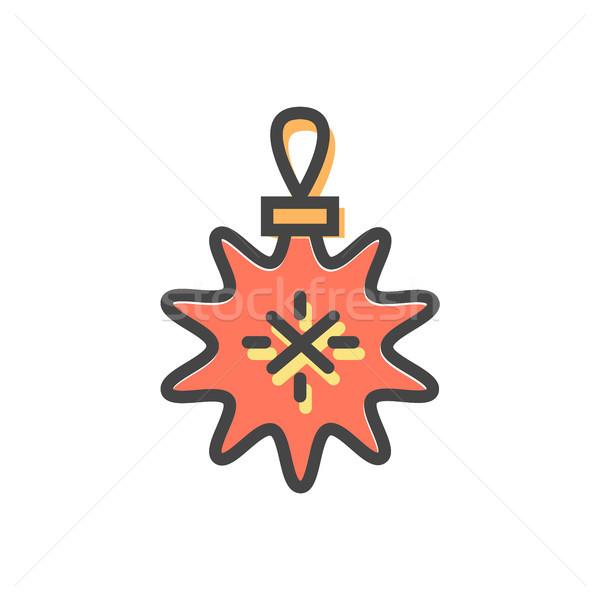 Star christmas zabawki koronki obiektu wiecznie zielony Zdjęcia stock © robuart