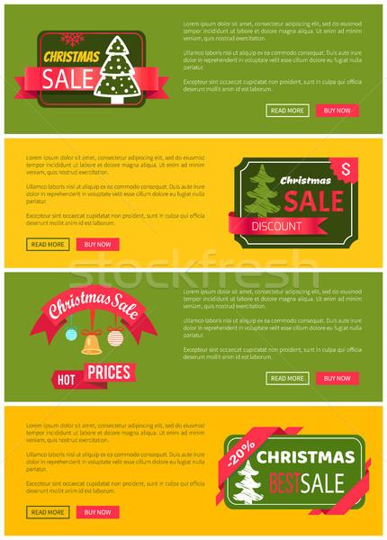 Premium Quality Hot Price Christmas Sale Card Stock photo © robuart