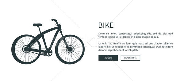 Bike Silhouette Web Page, Vector Illustration Stock photo © robuart