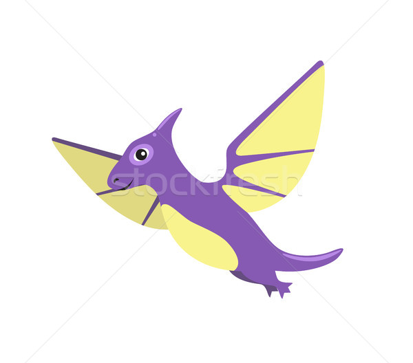 Pteranodon Dinosaur with Wings Vector Illustration Stock photo © robuart