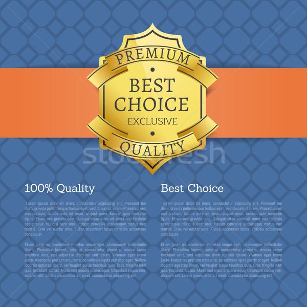 100 Qualität golden Marke Label Stock foto © robuart