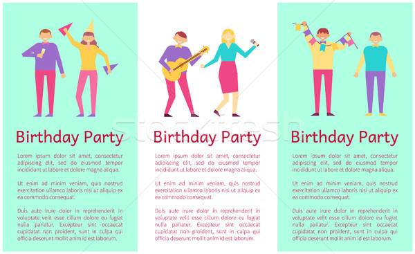 Festa di compleanno raccolta persone bene tempo godimento Foto d'archivio © robuart