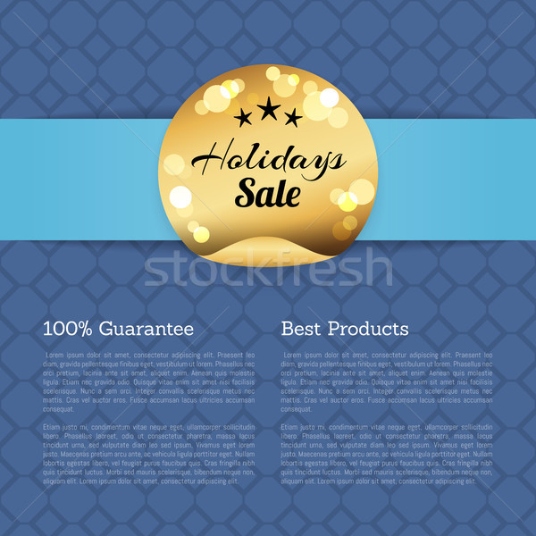 100 Guarantee Best Products Holidays Sale Poster Stock photo © robuart