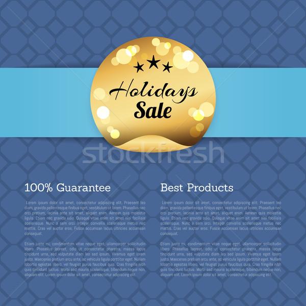 100 gwarantować najlepszy produktów wakacje sprzedaży Zdjęcia stock © robuart