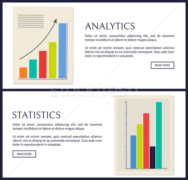 Statistiek analytics gegevens info graphics ingesteld Stockfoto © robuart