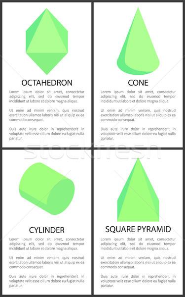 Kúp henger tér piramis szöveg minta Stock fotó © robuart
