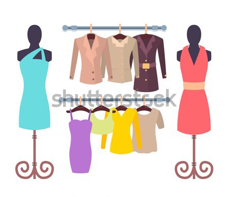 Woman Choosing New Summer Vogue Shirts and Shorts Stock photo © robuart