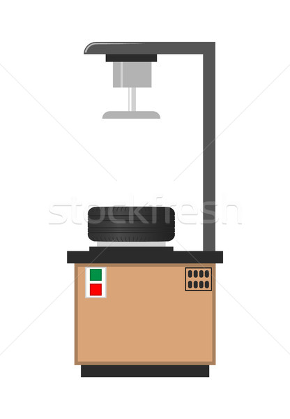 Opony instalacja warsztaty kolorowy wektora plakat Zdjęcia stock © robuart