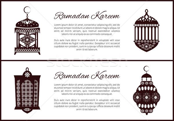 Ramadan moslim lantaarns symbolen heilig maand Stockfoto © robuart