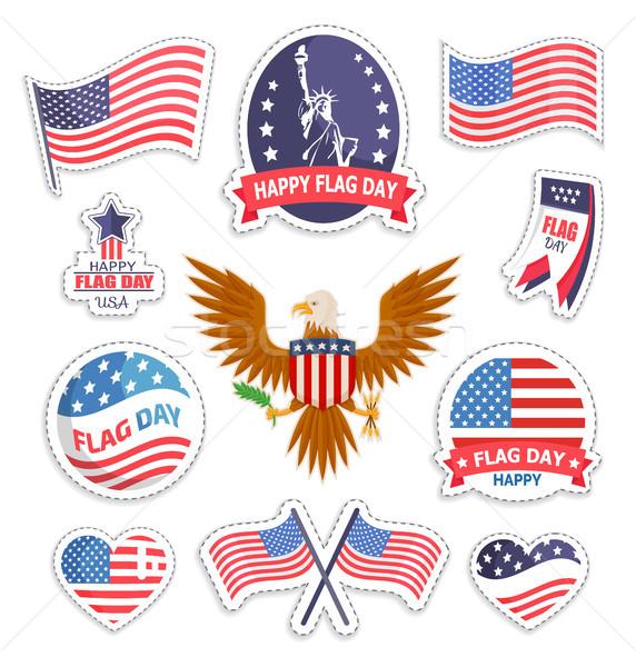 Felice bandiera giorno americano vacanze banner Foto d'archivio © robuart