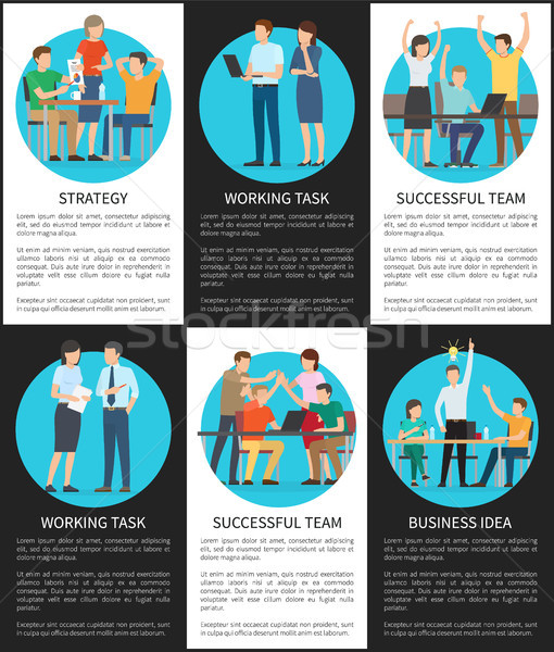 Business Idea Working Task Vector Illustration Stock photo © robuart