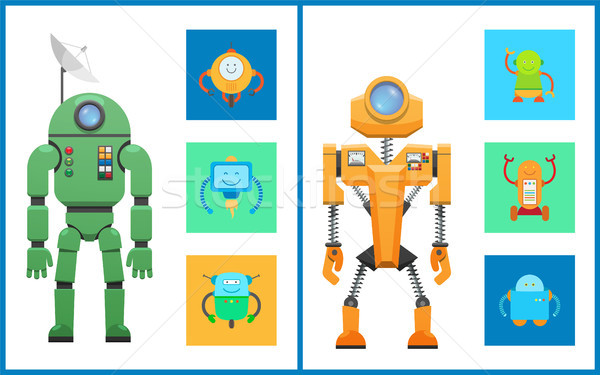 Cyber Creatures Robots Set Vector Illustration Stock photo © robuart