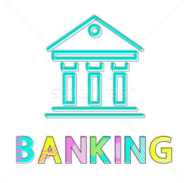 Banking Operations Colorful Vector Illustration Stock photo © robuart