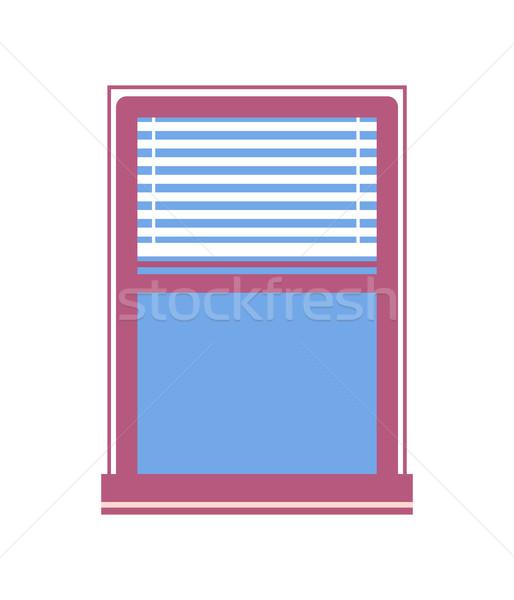 Window Half-Closed Jalousie Vector Illustration Stock photo © robuart