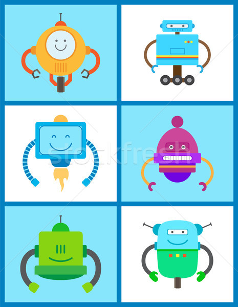 Robots Creature Collection Vector Illustration Stock photo © robuart