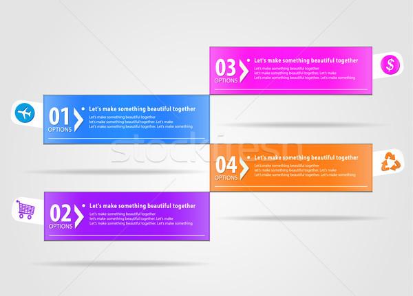 Modern infographics options banner Stock photo © robuart
