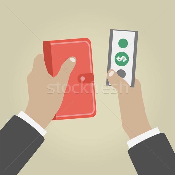 Main argent client mains homme affaires Photo stock © robuart
