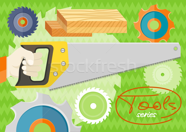 Hand saw set for wood Stock photo © robuart