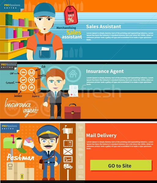продажи помощник страхования агент почтальон мужчины Сток-фото © robuart