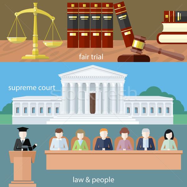 Fiera giudice legge persone uomo avvocato Foto d'archivio © robuart