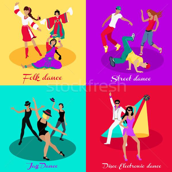Establecer calle danza jazz disco baile Foto stock © robuart