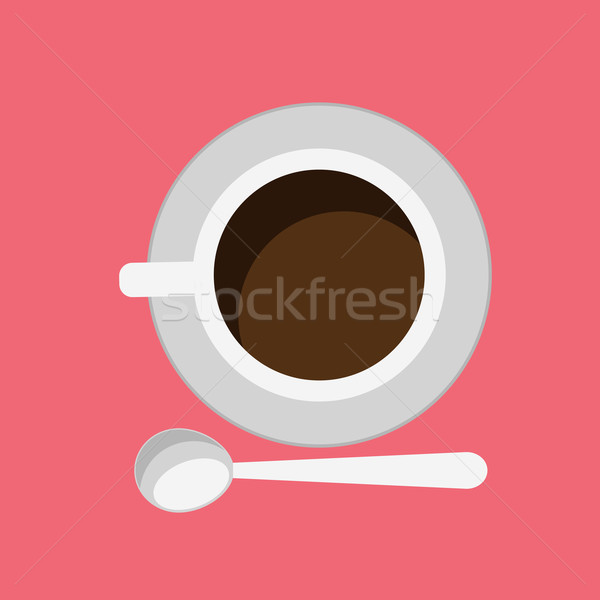 Cup of Coffee Isolated Design Flat Stock photo © robuart